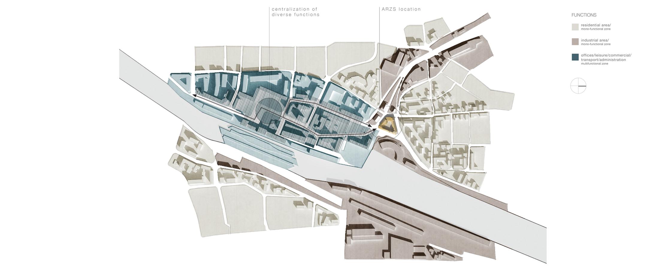Stedenbouwkundige Studie ARZS, Salzburg