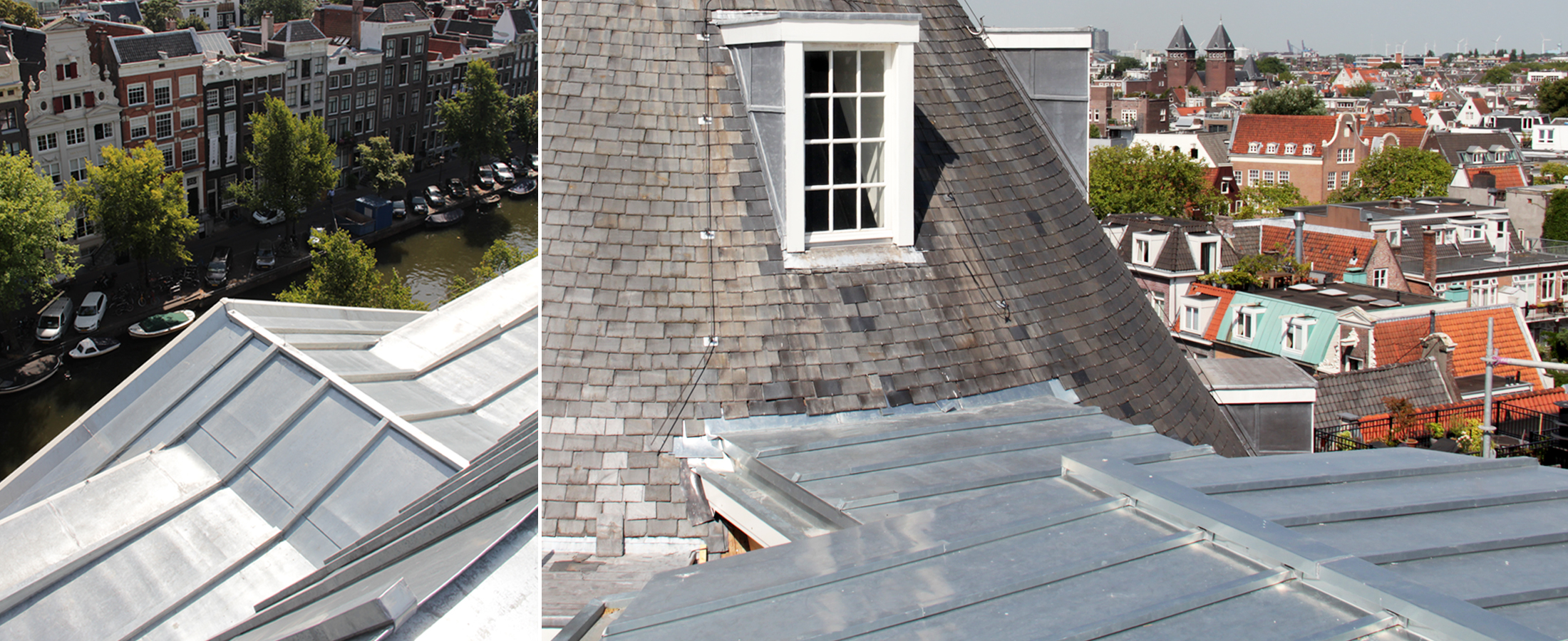 Nieuw dak Felix Meritis gereed